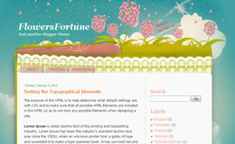 Flowers Fortune Blogger Theme