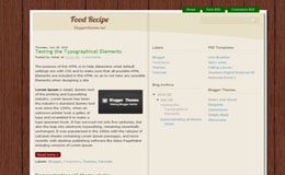 Food Recipe Blogger Theme