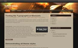 GameVision Blogger Theme