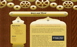 Gears and Wood Blogger Theme
