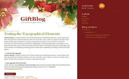 GiftBlog Blogger Theme