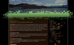 GoGreenGold Blogger Theme