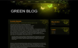 Green Blog Blogger Theme