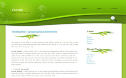 Greeny Blogger Theme