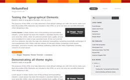 Heliumified Blogger Theme