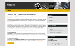 iGadgets Blogger Theme