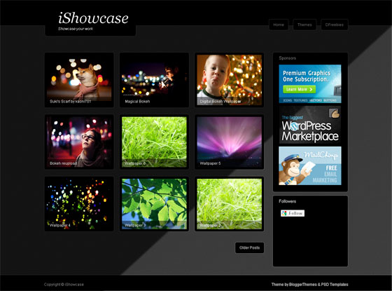 iShowcase Blogger Template