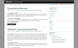 iTech Blogger Theme