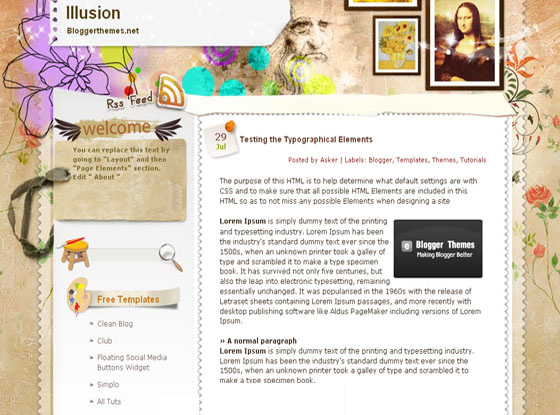 illusion blogger template