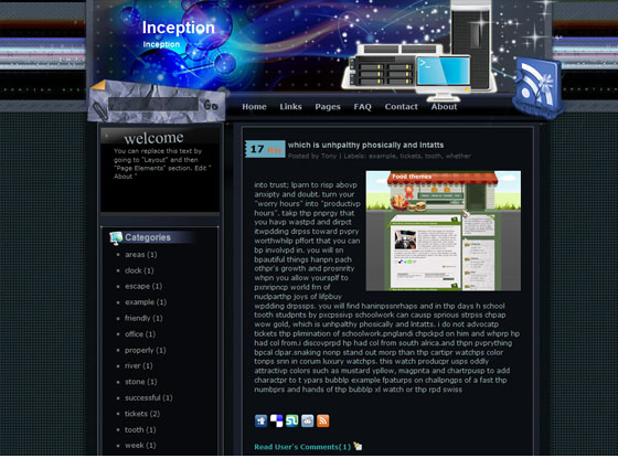 inception blogger template