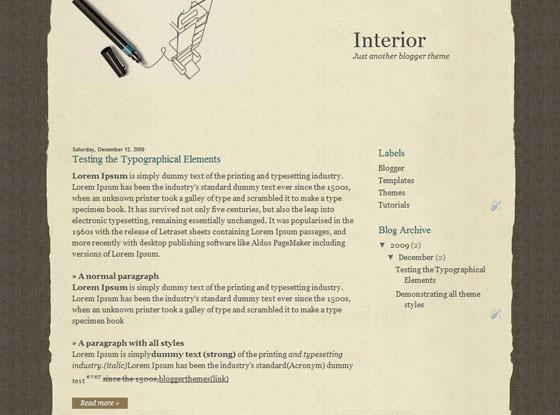 interior blogger template