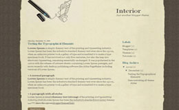 Interior Blogger Theme