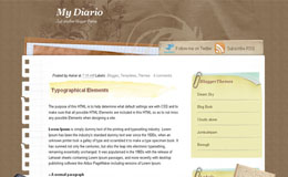 My Diario Blogger Theme