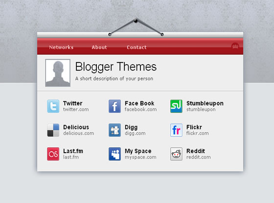 visiting card blogger theme