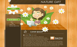 Nature Gift Blogger Theme