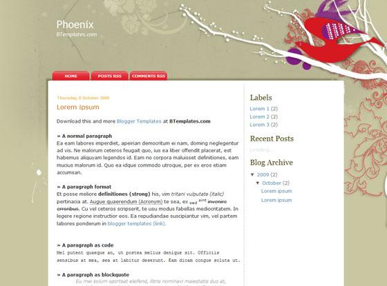 phoenix blogger template