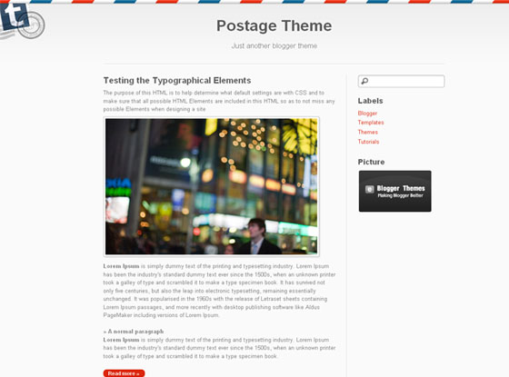 Postage Blogger Theme | Template