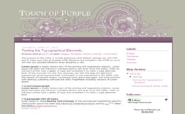 A little touch of purple Blogger Theme