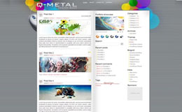 Q Metal Blogger Theme
