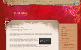 Red Blog Blogger Theme