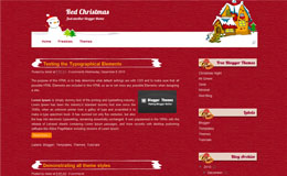 Red Christmas Blogger Theme