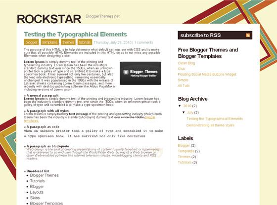 rockstar blogger theme