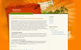 Save Green Blogger Theme