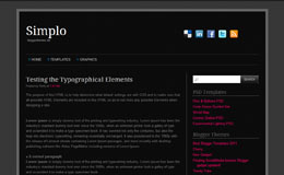 Simplo Black Blogger Theme