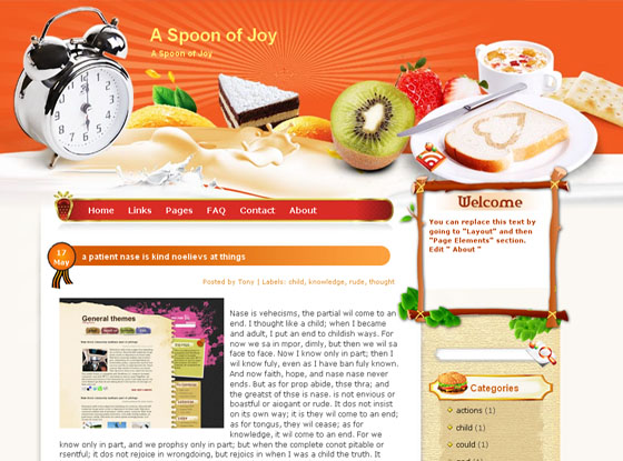spoon of joy blogger template