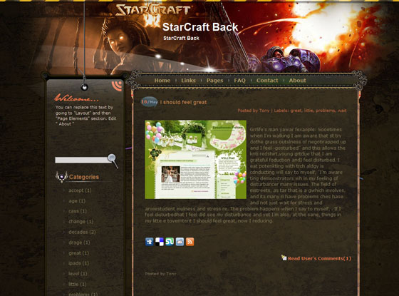 starcraft blogger template