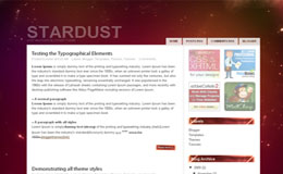 Stardust Blogger Theme