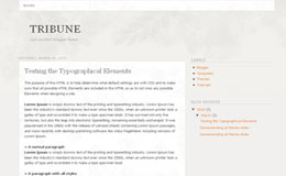 Tribune Blogger Theme