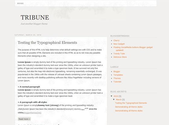 Tribune Blogger Template
