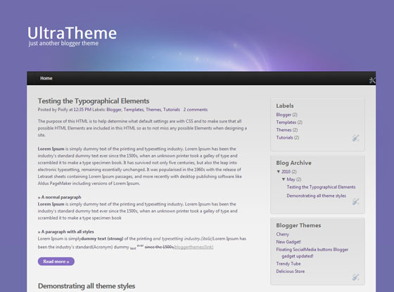ultra theme blogger template