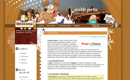 With Pet Blogger Theme