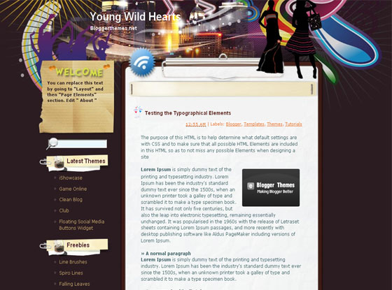 your wild hearts  blogger template